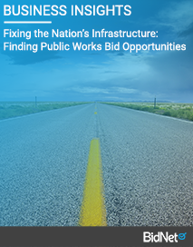 Fixing the Nation's Infrastructure: Finding Public Works Bid Opportunities