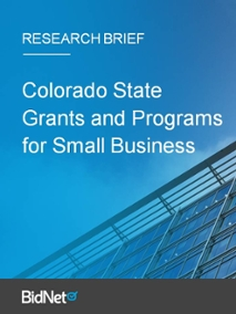 Colorado State Grants and Programs for Small Business