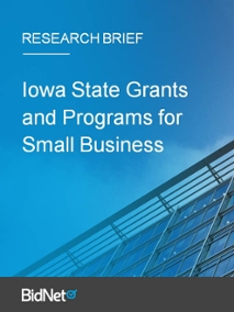 Iowa State Grants and Programs for Small Business