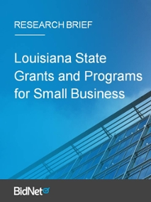 Louisiana State Grants and Programs for Small Business