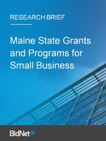 Maine State Grants and Programs for Small Business