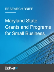 Maryland State Grants and Programs for Small Business