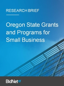 Oregon State Grants and Programs for Small Business