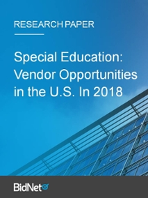 Special Education: Vendor Opportunities in the U.S. in 2018