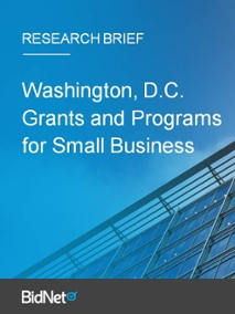 Washington, D.C. Grants and Programs for Small Business